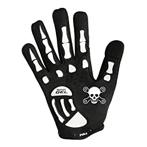 rocride rocskull full finger skeleton gloves