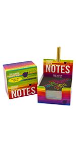 scratch note, combo pad, drawing pad, scratch pads, scratch notes, scratch paper stocking stuffer