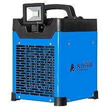 Heizlüfter Elektroheizer Bauheizer Zeltheizung Heizgerät 2-stufig bis 128 °C