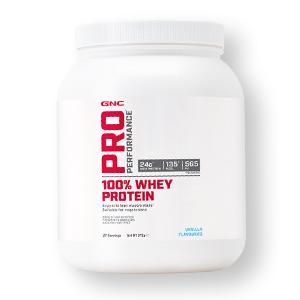 GNC Pro Performance 100% Whey Protein Powder - Fresa, 27 porciones, apoya la masa muscular magra