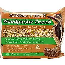 Woodpecker Crunch Seed Cake Snack Bar for Wild Birds