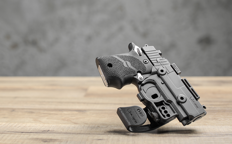 tabletop holster cz pocket sig sauer p365 p938 p238 glock 43 subcompact holster carry black shield