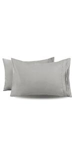 Light Grey Pillowcases Queen