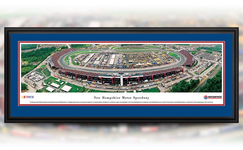 New Hampshire Motor Speedway framed panoramic picture