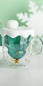 snow glass cup