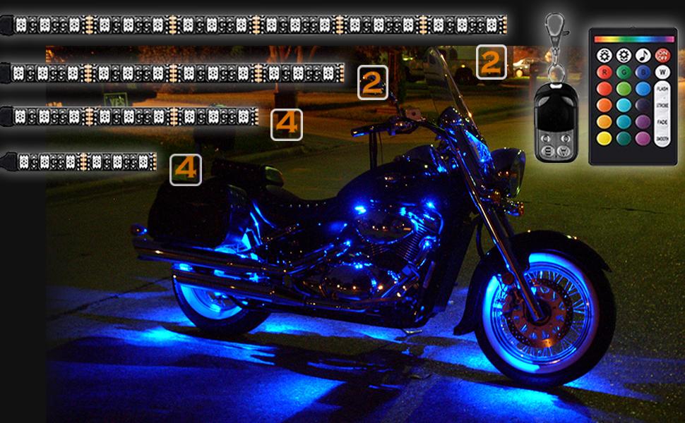 NBWDY led motorcycle light strip kit
