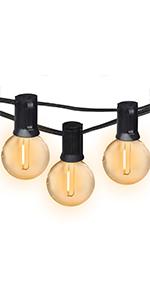 G40 globe outdoor led string lights