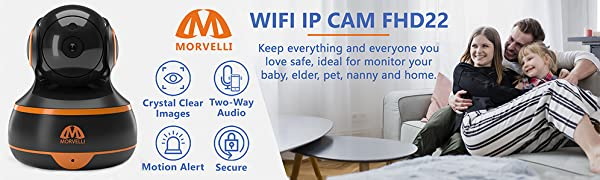 WiFi ip camera crystal clear images two-way audio motion alert monitor your baby pet nanny 1080 FHD