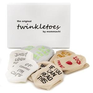 Mommachi Baby Shower Gift Present Christmas Birth Newborn Gender Unisex Unique Socks Sock Box