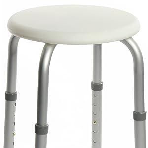 OrtoPrime Taburete de Ducha Redondo - Taburete Baño Antideslizante para discapacitados o ancianos - Silla Ortopédica para ducha - Altura Regulable: Amazon.es: Hogar