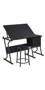 Black Drawing Table