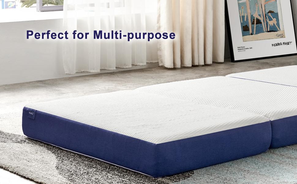gel memory foam mattress topper 3 inch 4 inch 6 inch Olee Sleep small space living room