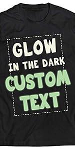 camiseta personalizada que brilla en la oscuridad