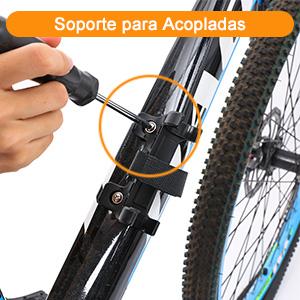 Audew Bomba Bicicleta Función Mano & Pie 160PSI Bomba Bicicleta ...