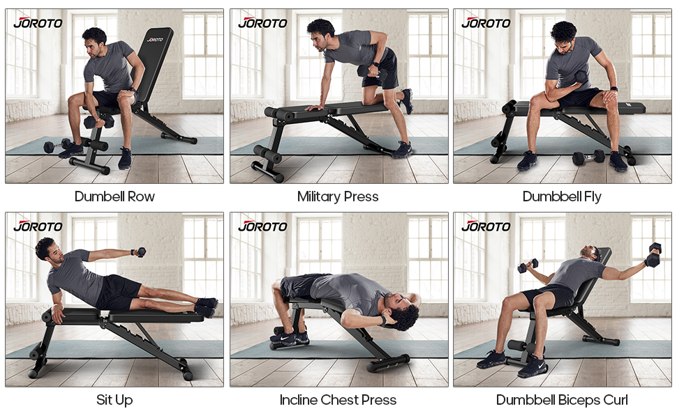 Multi-Purpose Adjustable Weight Bench Fit your Full Body Workout
