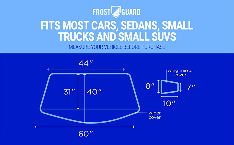 FrostGuard NFL Premium Winter Windshield Cover for Snow New York Giants Cold Weather Protection for Your Vehicle Standard Size Frost and Ice