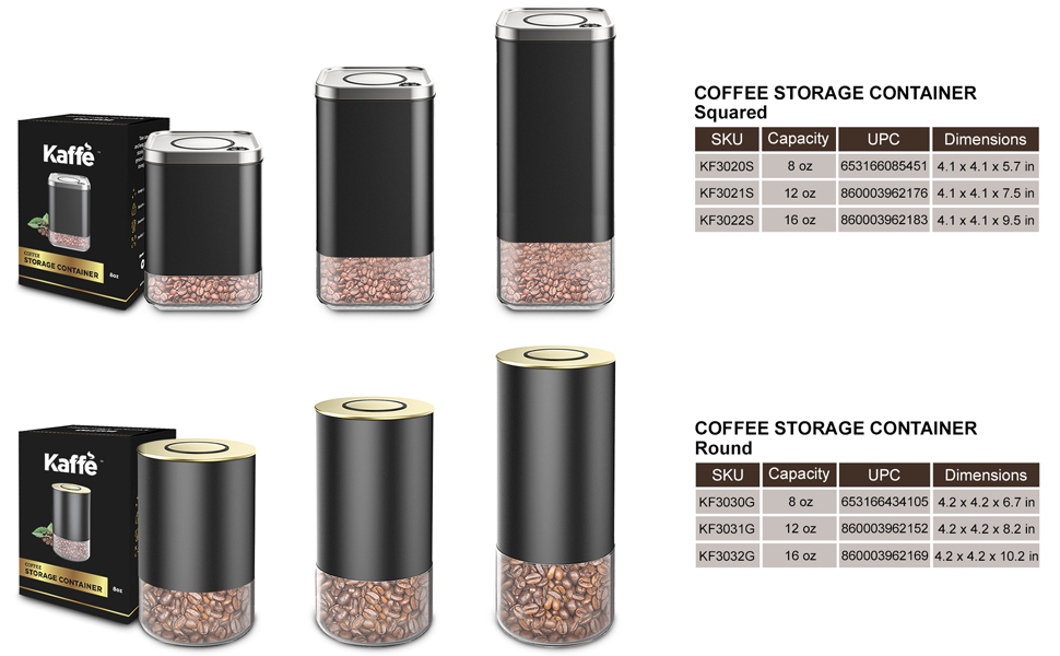 storage, container, coffee, canister, airtight