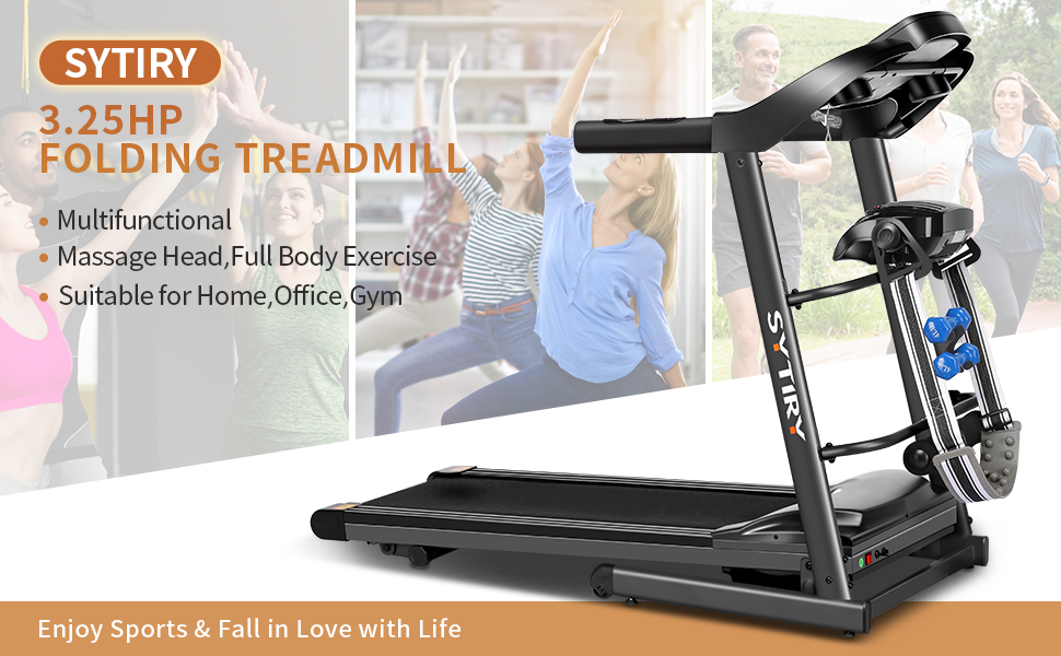 sytiry foldable treadmill, multifunctional massage, full body exercise,most people's choice