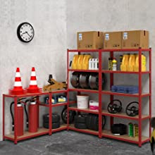 Deuba étagère charge lourde métallique étagère de rangement stockage cave garage bricolage métal