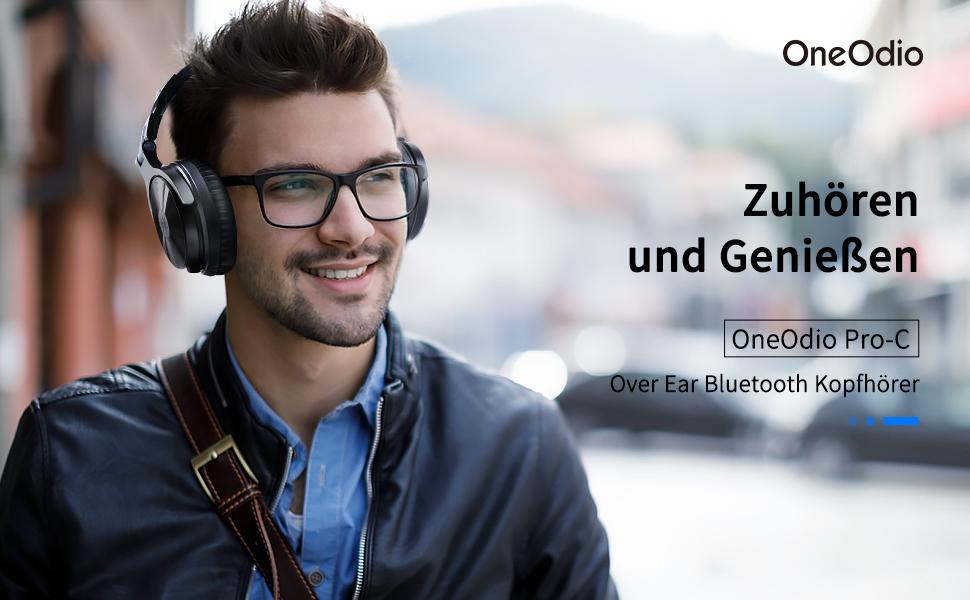 OneOdio Stereo Headphones Over Ear Closed Studio Headphones