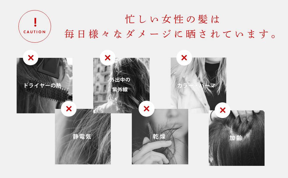 忙しい女性の髪は毎日様々なダメージに晒されています。