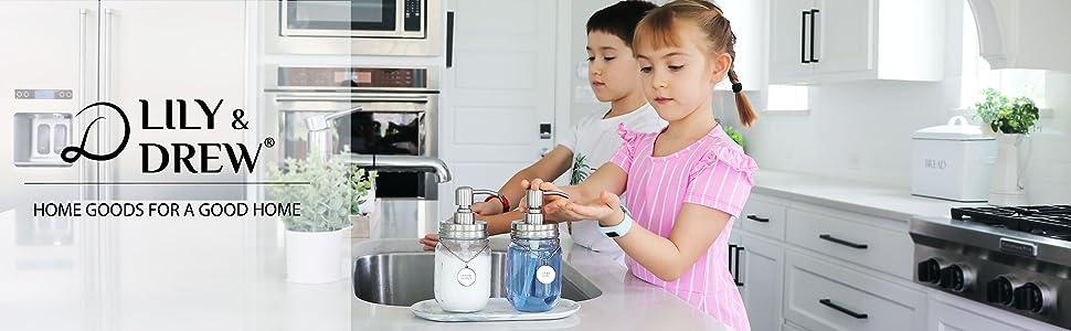 soap dispenser set, dispenser set with tag, dispenser with tag,  dispenser, Manson jar dispenser