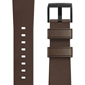 Nomad Modern Strap for Apple Watch 44mm/42mm Rustic Brown Horween Leather Black Hardware
