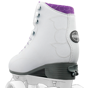 classic high white black roller skate boot skates classic disco rink style street embroidered girls