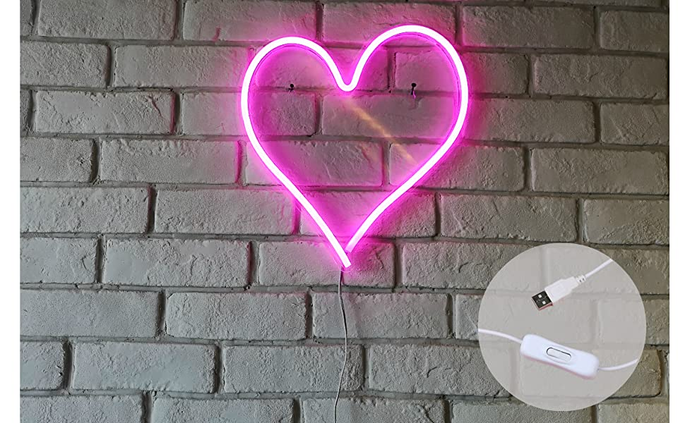 pink heart with switch