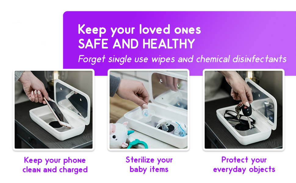 use the UVI kase for your phone, baby items or everyday items