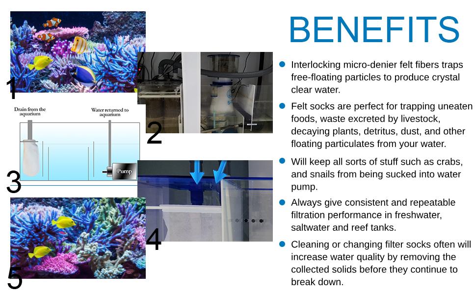 4 inch felt filter sock aquarium aquatic expert