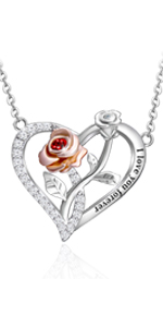 i love you forever necklace heart necklace for women silver