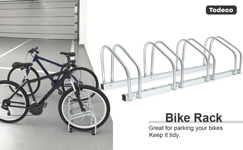 NEW One Bike Floor Parking Rack Storage Stand Ground Mount Garage Organizer