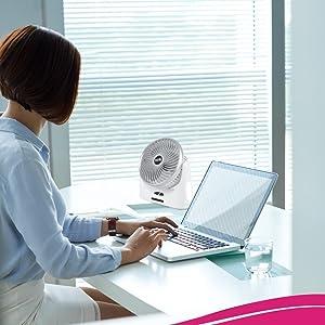 EMERGENCY RECHARGEBLE FAN usb fan home rechargeable portable office desk battery light far