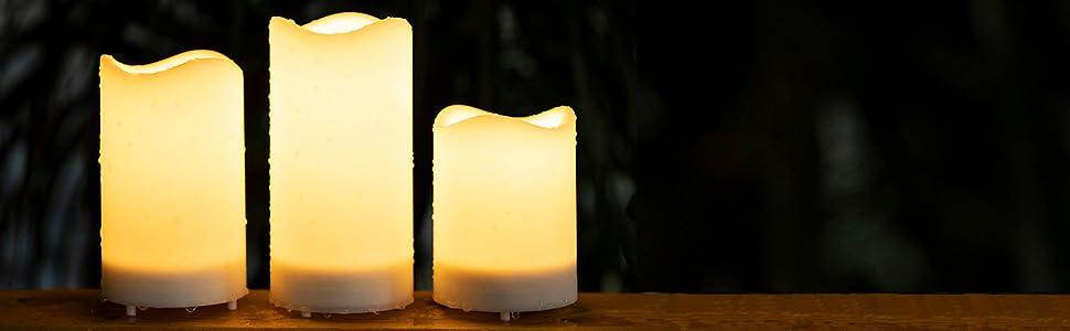 solar window candles