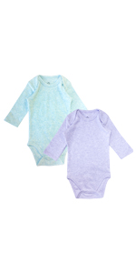 2 Pack Multi Color Neutral Baby Bodysuit
