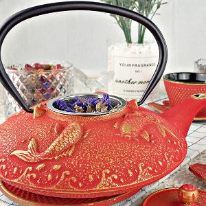 inside rea gold tea set iron enamel protection easier use