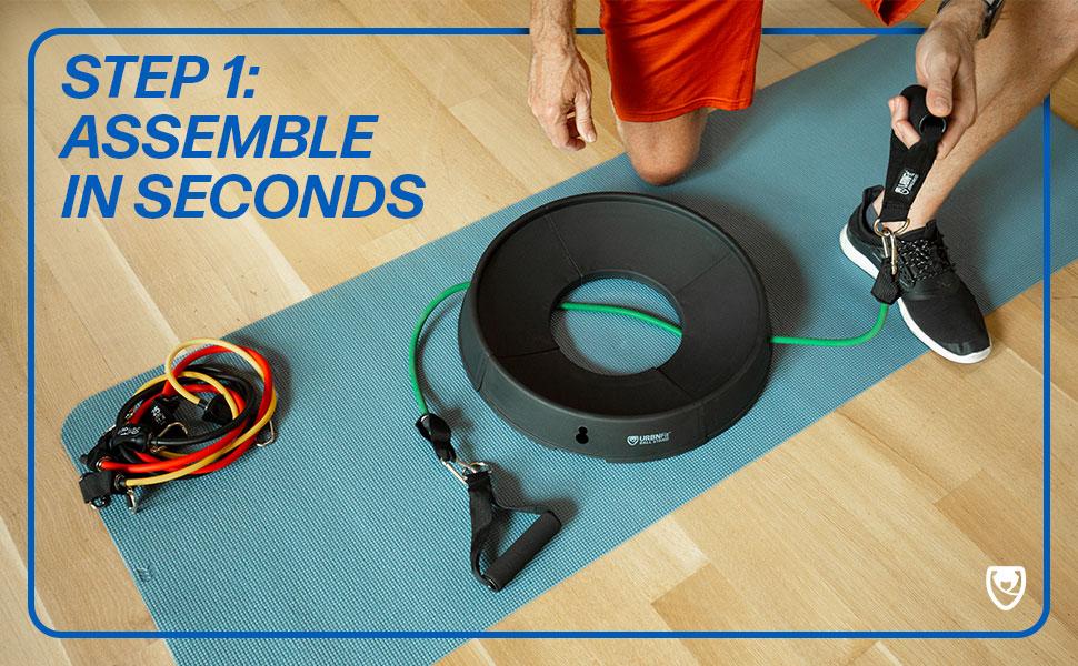 URBNFit Balance Ball Stand Exercise Equipment Yoga