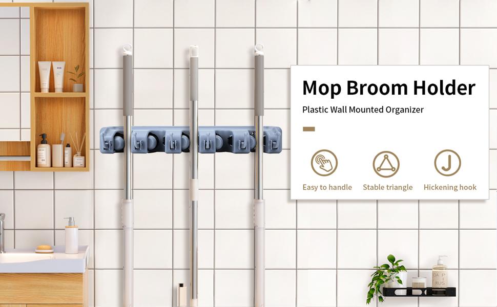 mop holder wall mounted heavy duty