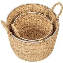 Stackable large wicker basket