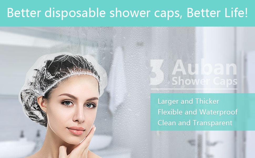 auban shower caps