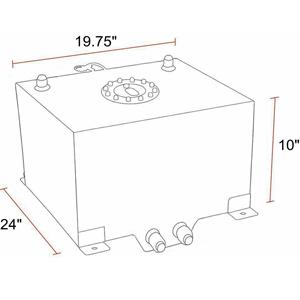 20 Gallon Light Weight Aluminum Racing Drift Fuel Cell Tank +Level Sender 80L
