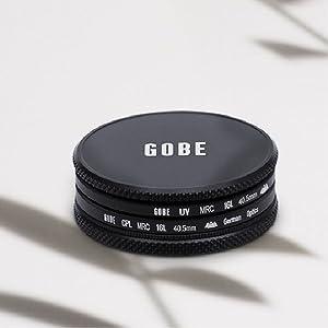 Gobe - Kit de Filtros para Objetivo 62 mm UV + Polarizado Circular (CPL) (1Peak): Amazon.es: Electrónica