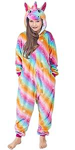 Girls Unicorn Pajamas Costume