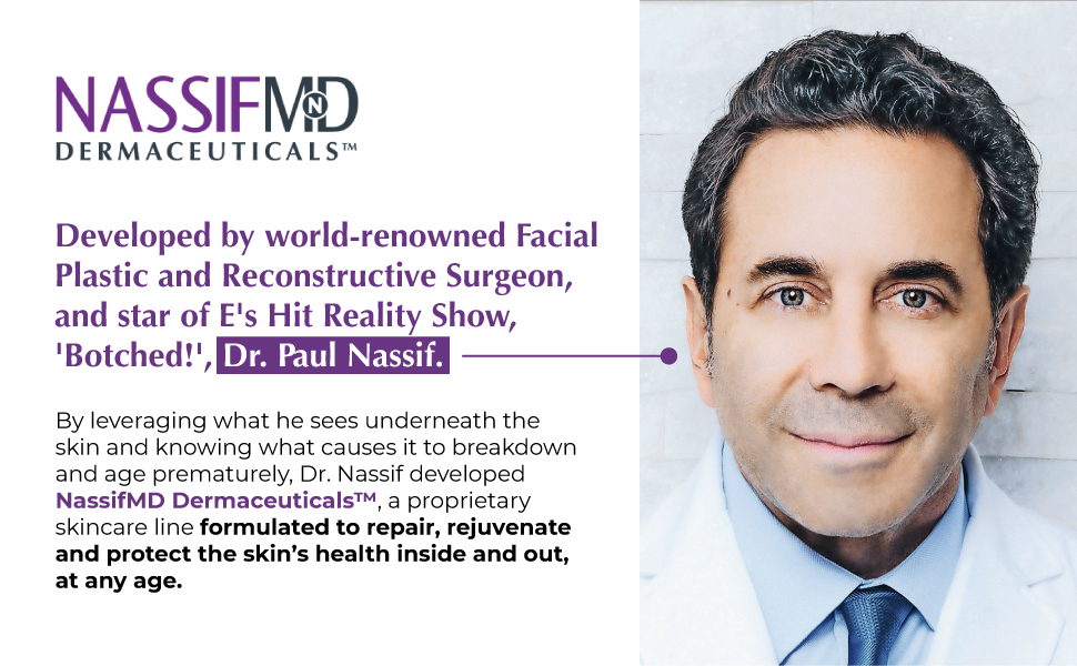 NassifMD, Dr. Paul Nassif, Nassif Dermaceuticals, proprietary skincare line, any age