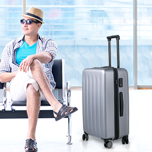 carry on luggage luggage set 22x14x9 suitcase hardside rolling spinner wheels 20inch carry on bag