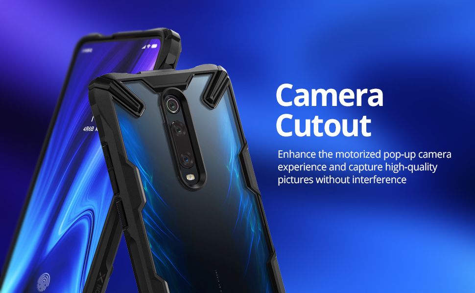 Ringke Fusion X Design Compatible with Xiaomi Mi 9T, Mi 9T Pro Case, Redmi K20, K20 Pro Case, Pocophone F2, F2 Pro Case Cover - Space Blue