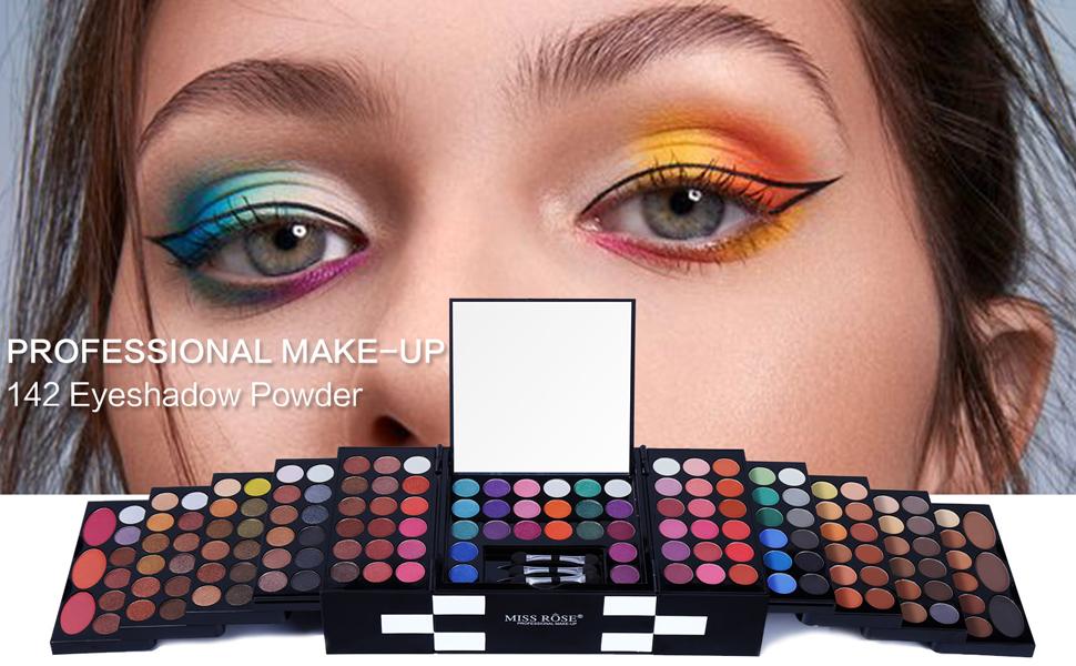 142 colors eyeshadow makeup kit