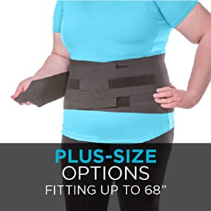 plus size lumbar back brace comes in plus sizes to fit up to 68 inches