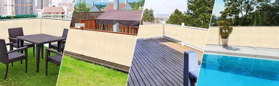 Protezione UV dal Vento per Balcone